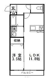 レジデンスM[1階]の間取り
