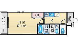 Osaka Metro御堂筋線 江坂駅 徒歩13分の賃貸アパート 2階1Kの間取り