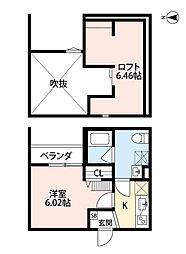 Osaka Metro千日前線 小路駅 徒歩4分の賃貸アパート 2階1Kの間取り