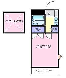 ペパーミントハウス[2階]の間取り