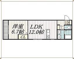 千葉県千葉市中央区椿森3丁目の賃貸マンションの間取り