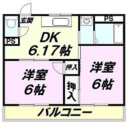 埼玉県所沢市若狭4丁目の賃貸アパートの間取り