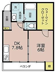 マーリエOKOSHI(おこし)[1C号室]の間取り