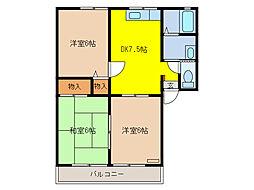 コート倉A[2階]の間取り