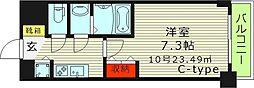 S-RESIDENCE都島(エスレジデンス都島) 9階1Kの間取り