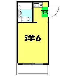 コーポ中川B[201号室]の間取り