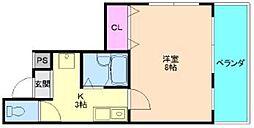 イモーブルナカムラ[4階]の間取り