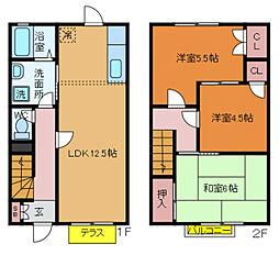 [テラスハウス] 千葉県流山市南流山7丁目 の賃貸【/】の間取り