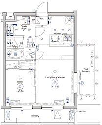 シーフォルム戸越公園II[4階]の間取り