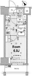 メイクスデザイン川崎II 5階1Kの間取り