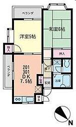 神奈川県横浜市青葉区梅が丘の賃貸マンションの間取り
