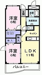 東京都羽村市緑ヶ丘5丁目の賃貸マンションの間取り