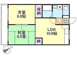 倉敷倶楽部[4階]の間取り