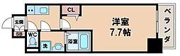 エスライズ天王寺EAST 8階1Kの間取り
