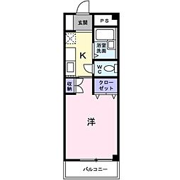 愛知県豊橋市東脇3丁目の賃貸アパートの間取り