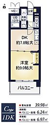 ア・ミュゼ新大阪[12階]の間取り
