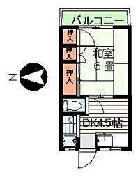 みのり荘[206号室]の間取り