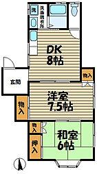 神奈川県鎌倉市台4丁目の賃貸アパートの間取り