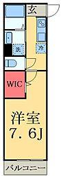 JR総武線 津田沼駅 徒歩6分の賃貸アパート 2階1Kの間取り