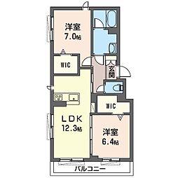 仮称 さいたま市岩槻区南平野3丁目シャーメゾン 3階2LDKの間取り