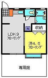 コーポ宮沢2[102号室]の間取り