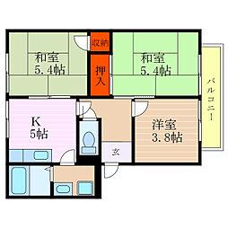 滋賀県彦根市河原3丁目の賃貸アパートの間取り