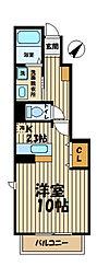 ハレアカラ西鎌倉[104号室]の間取り