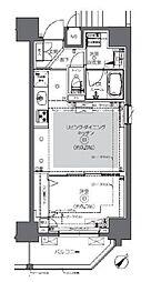 JR総武本線 馬喰町駅 徒歩2分の賃貸マンション 13階1LDKの間取り