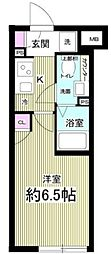 Notice 目黒本町 2階1Kの間取り