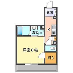 JR東海道本線 岡崎駅 徒歩29分の賃貸マンション 1階1Kの間取り