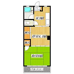天王マンション[1階]の間取り