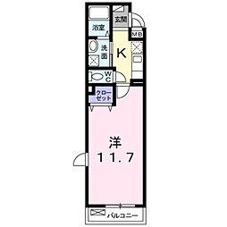 近鉄南大阪線 恵我ノ荘駅 徒歩5分の賃貸アパート 1階1Kの間取り