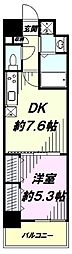 JR中央線 立川駅 徒歩4分の賃貸マンション 7階1DKの間取り