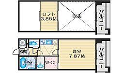 フォレステージュ江坂公園 12階1Kの間取り