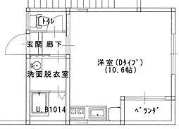 OMOYA3[104号室]の間取り