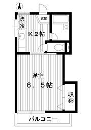 東京都中野区上鷺宮4丁目の賃貸アパートの間取り