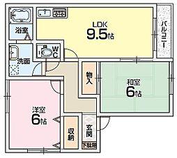 メゾンド・リヴランA棟[2階]の間取り