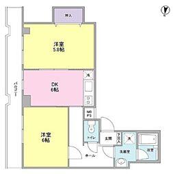 パラッツオ青葉台[2階]の間取り