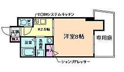 ウィステリア福島[1階]の間取り