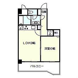 レガート横浜[402号室]の間取り