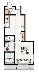 AXIS高田馬場 1階ワンルームの間取り
