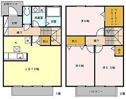 東武東上線 新河岸駅 徒歩11分の賃貸アパート 1階3LDKの間取り