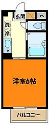 京王線 京王八王子駅 徒歩1分の賃貸マンション 9階1Kの間取り