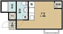 JR京浜東北・根岸線 さいたま新都心駅 徒歩13分の賃貸マンション 3階ワンルームの間取り