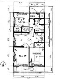 ディア名島マンション[301号室]の間取り
