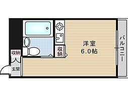 大阪府大阪市東住吉区照ケ丘矢田3丁目の賃貸マンションの間取り