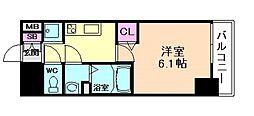 プレサンス塚本駅前[5階]の間取り