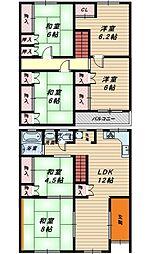 [一戸建] 大阪府堺市堺区昭和通3丁 の賃貸【/】の間取り