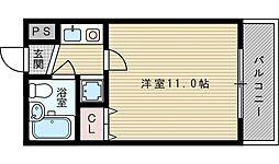 ミュゼ西淡路[5階]の間取り