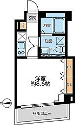都営浅草線 馬込駅 徒歩5分の賃貸マンション 4階1Kの間取り